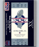 1990 Pro Set Super Bowl 160 #20 SB XX Ticket NFL Football