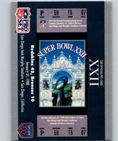 1990 Pro Set Super Bowl 160 #22 SB XXII Ticket NFL Football
