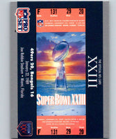 1990 Pro Set Super Bowl 160 #23 SB XXIII Ticket NFL Football