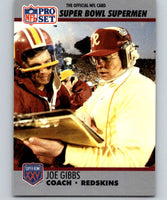 1990 Pro Set Super Bowl 160 #26 Joe Gibbs Redskins CO NFL Football