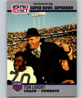 1990 Pro Set Super Bowl 160 #27 Tom Landry Cowboys CO NFL Football