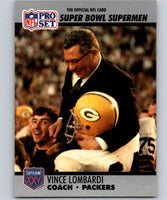 1990 Pro Set Super Bowl 160 #28 Vince Lombardi Packers CO NFL Football