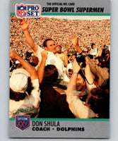 1990 Pro Set Super Bowl 160 #30 Don Shula CO NFL Football