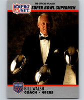 1990 Pro Set Super Bowl 160 #31 Bill Walsh 49ers CO NFL Football