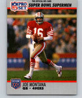 1990 Pro Set Super Bowl 160 #33 Joe Montana 49ers NFL Football