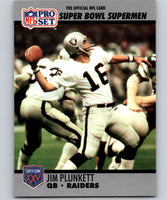 1990 Pro Set Super Bowl 160 #35 Jim Plunkett NFL Football