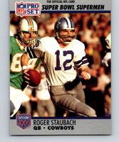 1990 Pro Set Super Bowl 160 #37 Roger Staubach Cowboys NFL Football
