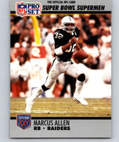 1990 Pro Set Super Bowl 160 #38 Marcus Allen LA Raiders NFL Football