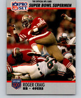 1990 Pro Set Super Bowl 160 #39 Roger Craig 49ers NFL Football