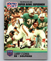 1990 Pro Set Super Bowl 160 #40 Larry Csonka Dolphins NFL Football