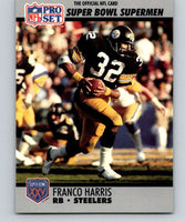 1990 Pro Set Super Bowl 160 #41 Franco Harris Steelers NFL Football