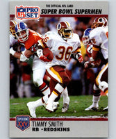 1990 Pro Set Super Bowl 160 #43 Timmy Smith Redskins NFL Football