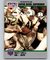 1990 Pro Set Super Bowl 160 #44 Matt Snell NY Jets NFL Football