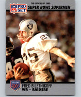 1990 Pro Set Super Bowl 160 #45 Fred Biletnikoff Raiders NFL Football