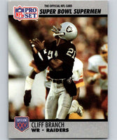 1990 Pro Set Super Bowl 160 #46 Cliff Branch Raiders NFL Football
