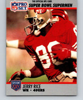 1990 Pro Set Super Bowl 160 #48 Jerry Rice 49ers NFL Football