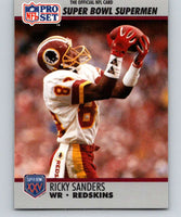 1990 Pro Set Super Bowl 160 #49 Ricky Sanders Redskins NFL Football