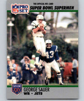 1990 Pro Set Super Bowl 160 #50 George Sauer Jr. NY Jets NFL Football