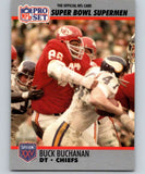 1990 Pro Set Super Bowl 160 #81 Buck Buchanan Chiefs NFL Football