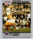1990 Pro Set Super Bowl 160 #121 Don Chandler Packers NFL Football