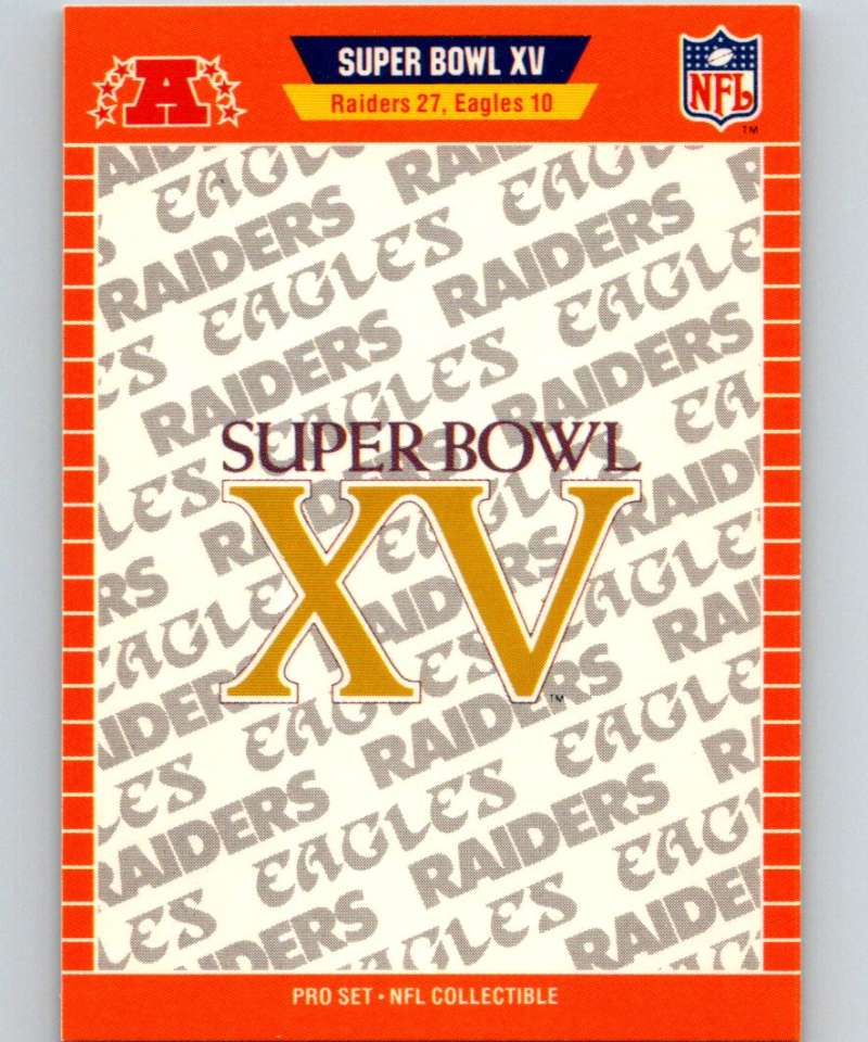 1989 Pro Set Super Bowl Logos #15 Super Bowl XV NFL Football