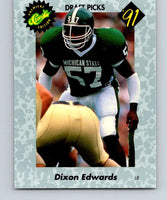 1991 Classic #34 Dixon Edwards NFL Football