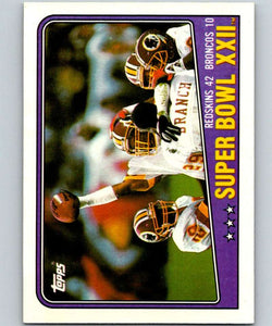 1988 Topps #1 Super Bowl XXII NFL Football