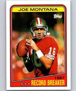 1988 Topps #4 Joe Montana 49ers RB NFL Football