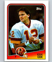 1988 Topps #15 Steve Cox Redskins NFL Football