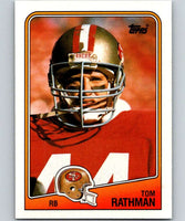 1988 Topps #41 Tom Rathman RC Rookie 49ers NFL Football