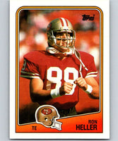1988 Topps #45 Ron Heller RC Rookie 49ers NFL Football
