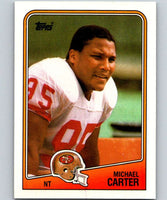 1988 Topps #47 Michael Carter 49ers NFL Football