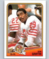 1988 Topps #50 Don Griffin 49ers NFL Football