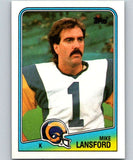 1988 Topps #292 Mike Lansford LA Rams NFL Football