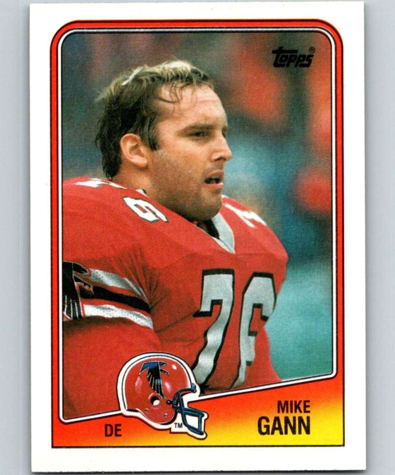 1988 Topps #390 Mike Gann Falcons NFL Football