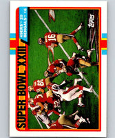 1989 Topps #1 Super Bowl XXIII 49ers NFL Football