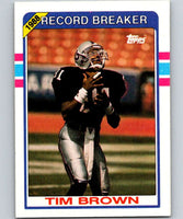 1989 Topps #2 Tim Brown LA Raiders RB NFL Football