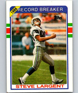 1989 Topps #4 Steve Largent Seahawks RB NFL Football