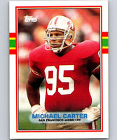 1989 Topps #10 Michael Carter 49ers NFL Football