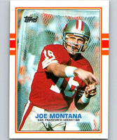 1989 Topps #12 Joe Montana 49ers NFL Football