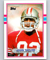 1989 Topps #13 John Taylor RC Rookie 49ers NFL Football