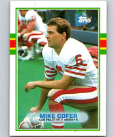 1989 Topps #15 Mike Cofer RC Rookie 49ers NFL Football