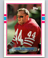 1989 Topps #16 Tom Rathman 49ers NFL Football