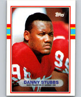 1989 Topps #17 Daniel Stubbs RC Rookie 49ers NFL Football