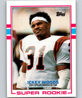 1989 Topps #27 Ickey Woods RC Rookie Bengals NFL Football