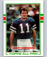 1989 Topps #42 Scott Norwood RC Rookie Bills NFL Football