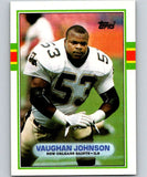 1989 Topps #159 Vaughan Johnson RC Rookie Saints NFL Football