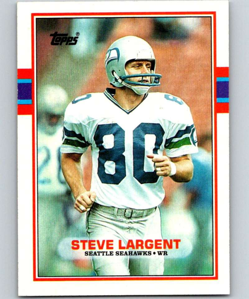 1989 Topps #183 Steve Largent Seahawks NFL Football