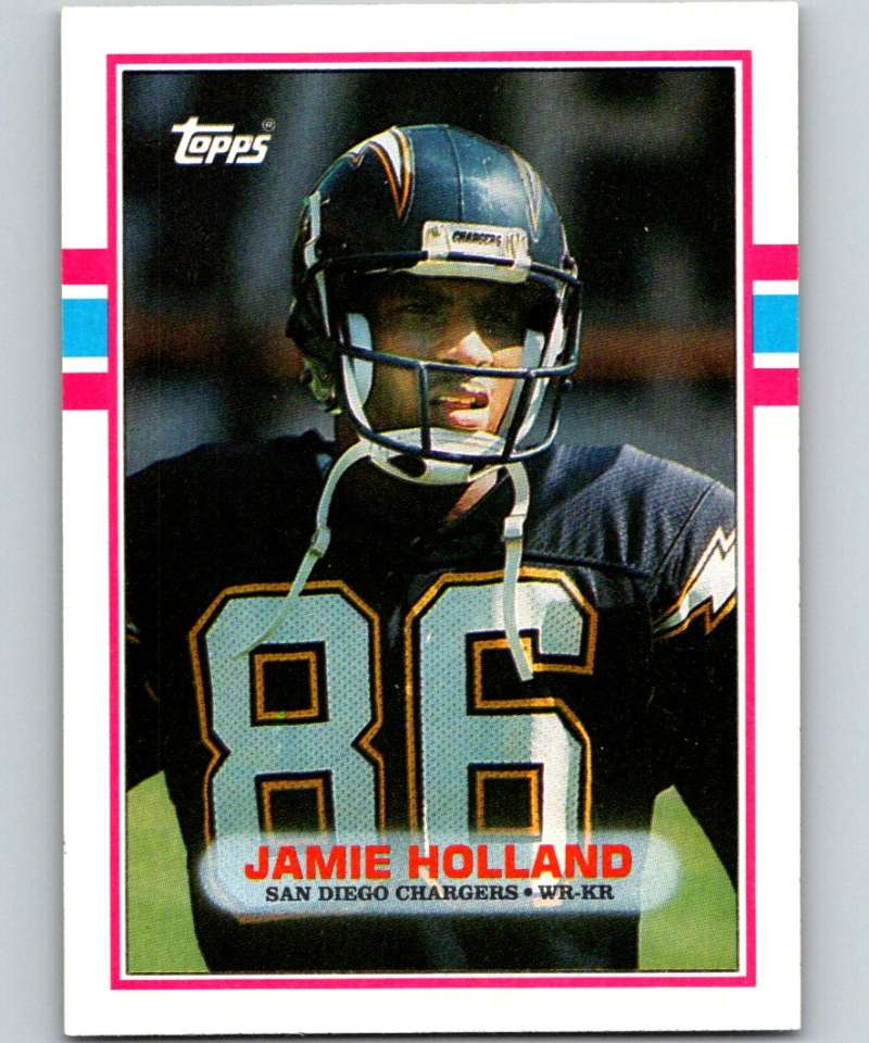 1989 Topps #308 Jamie Holland RC Rookie Chargers NFL Football