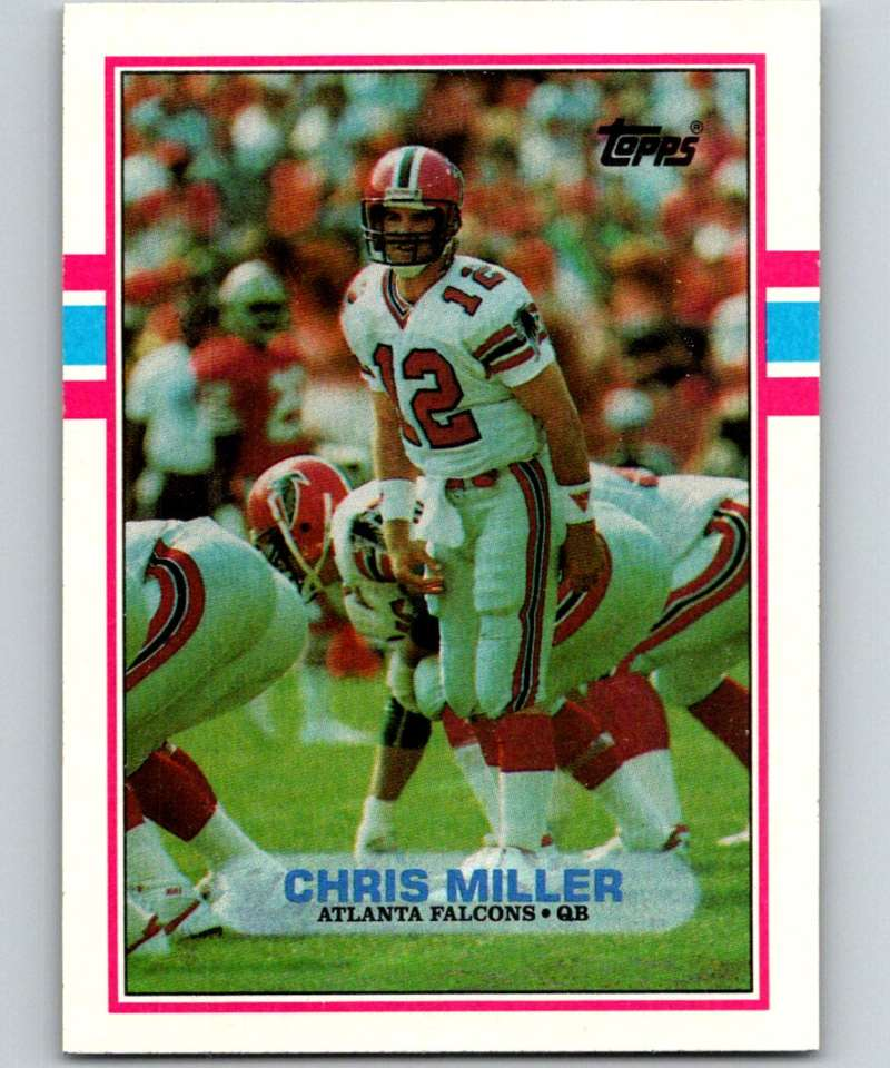 1989 Topps #341 Chris Miller RC Rookie Falcons NFL Football